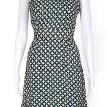 Tory Burch Womens Silk Sleeveless Midi Dress Blue Brown Green Size 4 Photo