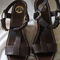 Tory Burch Wood Wedge Sandals. Size 9. Photo
