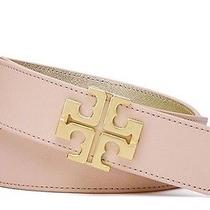 Tory Burch York Reversible Beige Blush/gold Belt- Medium- Nwt 195 Photo