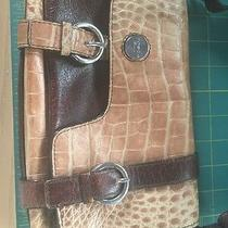 Tosca Blu Purse Faux Croc Leather Brown Tan  Photo