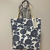 Tote Bag Navy Mums Handy Fabric Shopping Bag 100% Cotton Washable Made in Usa    Photo