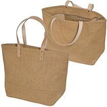 Tote Bags Handbag Purse Natural Shopping Travel Women W/ Leather Handles Photo