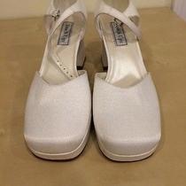 Touch Ups Wedding Shoes - Celine White Crepe - Size 10w Photo