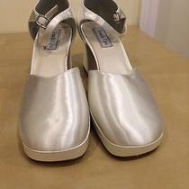 Touch Ups Wedding Shoes - Celine White Satin - Size 11w Photo