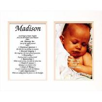 Townsend Fn02layla Personalized Matted Frame With the Name & Its Meaning Layla Photo