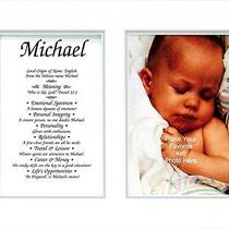 Townsend Personalized Matted Frame With the Name & Its Meaning Addison Photo