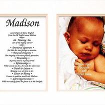 Townsend Personalized Matted Frame With the Name & Its Meaning Camilla Photo