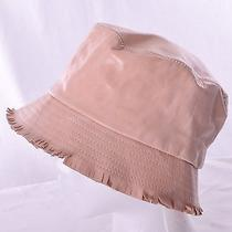 Tracy Watts New York Leather Bucket Hat Blush Peach One Size New Photo