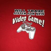 Trade Sister for Video Game T Shirt Boys Youth Large Photo