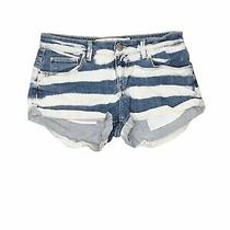 Trafaluc by Zara Women Blue Denim Shorts 2 Photo