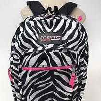 Trans by Jansport Backpack - Pink With Zebra Stripes School Laptop Book Bag Photo