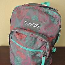 Trans by Jansport Bookbag Backpack Green Red Gray Magenta Free Ship Photo