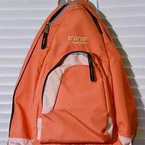 Trans by Jansport Ergonomic Teardrop School Computer Sling Back Pack Orange Photo