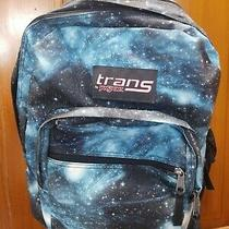 Trans by Jansport Galaxy Outer Space Stars Solar System Backpack Blue Black Photo