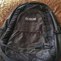 Trans by Jansport  Gray Backpack Bookbag School Bag Computer Carrier Photo