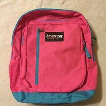 Trans by Jansport Pink and Blue Backpack Laptop Bag Satchel Like New Photo