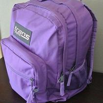 Trans by Jansport Purple Bookbag Backpack 17 X 12.5 X 8.25 Excellent Free Ship Photo