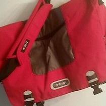 Trans by Jansport School Crossbody Messenger Laptop Bag Case Red Canvas  Photo