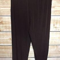 Travel Elements Dark Brown Acetate Short Inseam Casual Pants 1x Nwt Photo