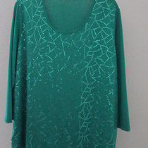 Travel Elements Green Sequin Top Photo