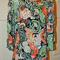 Travel Elements Tunic Top in Multi Bold Colors - 1x Photo