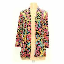 Travel Elements Women's Cardigan Size S  Pink Yellow  Polyester Spandex Photo