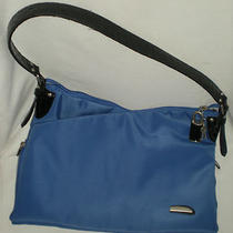 Travelon Blue Expandable Nylon Bag Purse Shoulder Bag Photo
