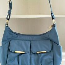 Travelon Purse Blue Hobo Shoulder Bag Rfid Travel Carry on Satchel 42931-310 Photo