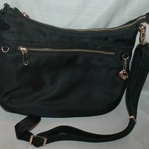 Travelon Tailored Hobo Nylon Black Handbag Purse Photo