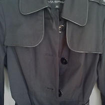 Trench Women's Belted Black Fitted Photo
