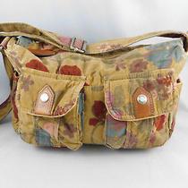 Trending Corduroy Brown Floral Fossil Purse Shoulder Handbag Genuine Classic Med Photo