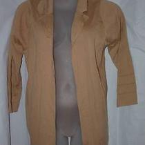 Trendy Brown Plus 1x 14 / 16  Casual or Dress Open Spring Sweater Jacket Mossimo Photo