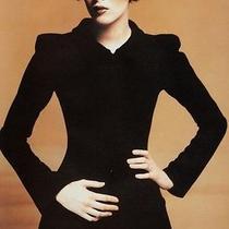 Trendy Chanel Dark Blue Jacket Skirt Suit Photo