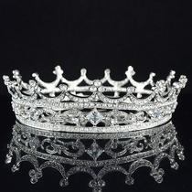 Trendy Clear Swarovski Crystals Flower Round Tiara for Bridal Pageant Sha8577 Photo