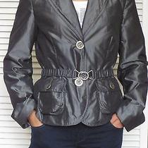 Trendy Escada Laurel Silver Lightly Padded Jacket Coat Sz 36 Photo