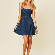 Trendy Free People Denim Mini Dress Size 0 Photo