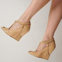 Trendy & Modern Stella Mccartney Wedge Shoes Beige Faux Leather Sz 38 / 7.5 Photo
