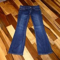 Trendy New Express 2s 2 Short Stella Boot Low Rise Dark Rinse Jeans 2 S Photo