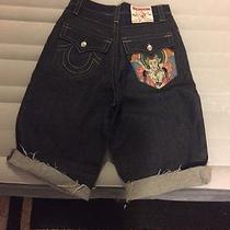 Trendy Rare Style True Religion Jean Shorts Sz 32 Photo