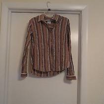 Trendy Striped   Columbia Sportswear  Shirt Sz L Photo