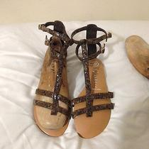 Trendy Summer Perfect Crackled Leather Gladiator Sandals by Jeffrey Campbell 6 Photo