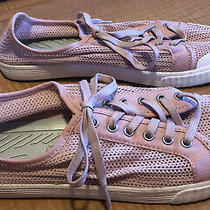 Tretorn Womens Shoes Blush Pink Lace Up Tournament Net Mesh Sneakers Size 9 Photo