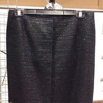 Trina Turk Black Silver Tweed Fringe Mini Skirt Sz 10 Photo