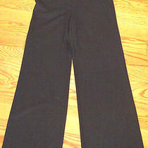 Trina Turk Black Stretch Dress Pants 4 Freshly Dry Cleaned  Usa Made in Wide Leg Photo