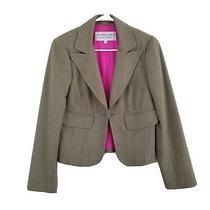 Trina Turk Blazer Size 6 Tan Ribbon Tie Womens Wool Blend Lined  Photo