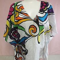 Trina Turk Bright Colored Cotton-Silk Beach Cover-Up Women's Xs Fast Shipping Photo