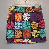 Trina Turk Daisy Daze Easton Skirt in Multi Color Mod Floral Print Size 2 Photo