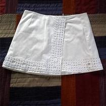 Trina Turk Designer White Geo Design Mini Skirt Size 0 Photo