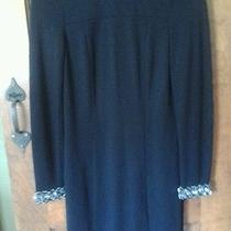 Trina Turk Gorgeous Holiday Dress With Bling Collar and Sleeve Cuffs Size 2 Photo