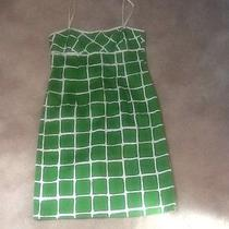 Trina Turk Green/white Dress. Size 6 Photo